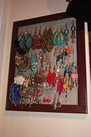 Diy Wall Earring Holder Live Love Organise