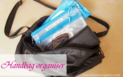 Easy Handbag Organisation