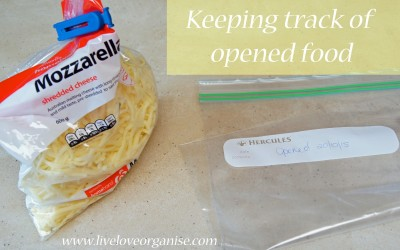 Keeping Track of Opened Food